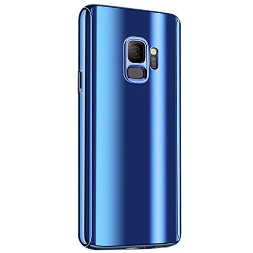 Alsoar®Coque Etui Samsung Galaxy S7 Edge Case Avant et Arrière Intégral 360° Full Protection Ultra Fine+Protecteur D'écran en Verre Trempé Colorée de Placage Anti-Rayures pour Galaxy S7 Edge (Bleu)