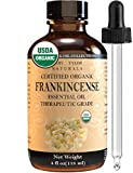Organic Frankincense Essential Oil (4 oz), USDA Certified by Mary Tylor Naturals, 100% Pure, Therapeutic Grade, Perfect for Aromatherapy, Relaxation, DIY, Improved Mood