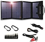 COOCHEER Solar Panel 60W/120W, Portable Solar Panel Charger for Portable Generator/Power Station/USB Devices/Cars/Yacht with 2 USB Ports & 1 DV Port, Suitable for Camping Van (60w)