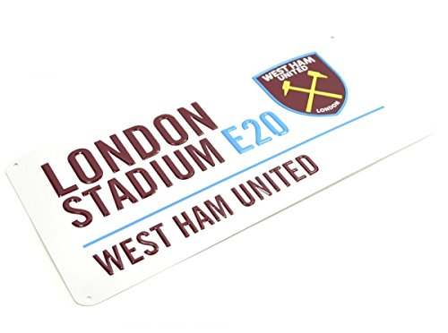 West Ham United Football Club London Stadium White Street Wall Sign officieel