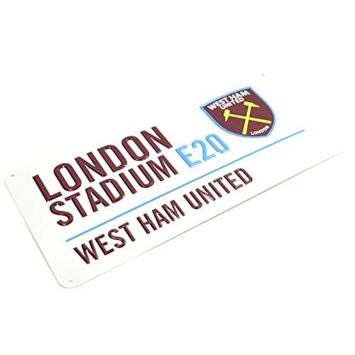 West Ham United Football Club London Stadium White Street Wall Sign Official
