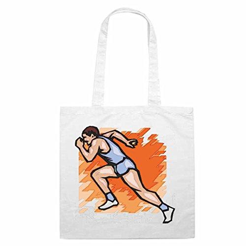 Bolso de diseño nº 4612Correr Jogger Correr Sprint Mega Sports Hobby Bolsa de la compra escolar Bolsa de deporte bolsa
