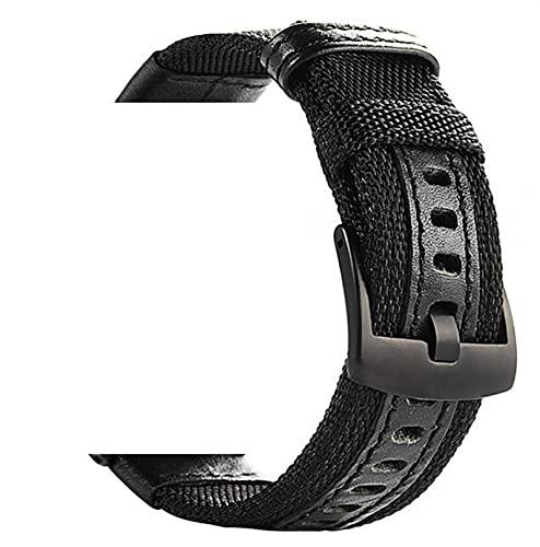 HGGFA Correa para Samsung Gear Sport S2 S3 Classic para Amazfit GTR BIP 22 20mm Galaxy Watch 3 41mm 45mm Active 42 46 Band para Huawei GT 2 (Band Color : Black, Band Width : Galaxy Watch 46mm)