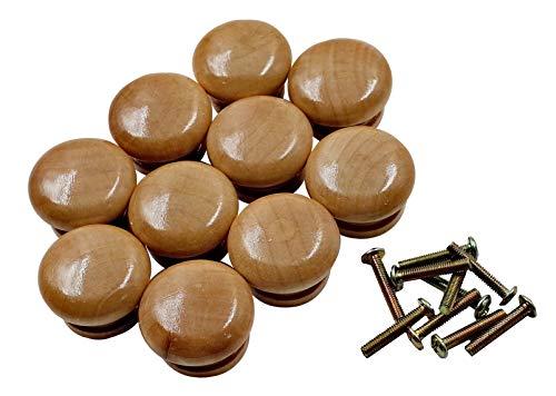 ZERONOWA 木製 取っ手 木目 家具 引き出し 取手 つまみ (大 10個セット)