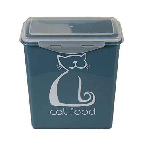 Jlxl Hundefutter Futtercontainer, Hund Katze Trockenfutter Behälter Versiegelt Küche Körner Lager Box Kapazität 5.8L