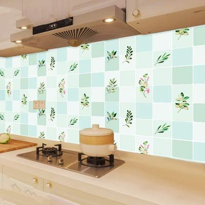 HOUSEHOLD Moderne Tapeten Tv Hintergrund Wohnzimmer Wallpa 100x60cm Ölbeständiges beständig hohe Temperatur Self Adhesive Wallpaper for Home Küchen-Wand-Ofen Dekorationsbedarf (Color : 2)