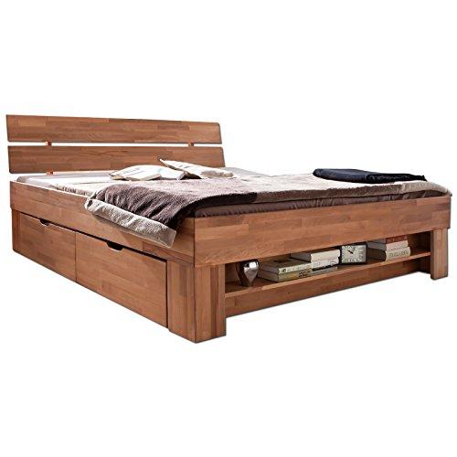 Futonbett SOFIE mit Bettkasten und Fußteilregal 140 x 200 cm - 2