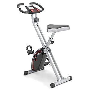 Circuit Fitness Folding Upright Exercise Bike with Adjustable Resistance 250 lb. Max. Capacity AMZ-150BK