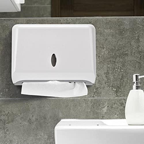 Omabeta Praktische wasserdichte Papierhalter Organizer Fall Standard Verarbeitung Wandmontage Aufbewahrungsbox für das Badezimmer für die Küche(White)