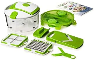 Genius Salad Chef Smart 5 pièces - Set à salade, pour couper, émincer et éplucher les fruits et légumes - Vu à la télé