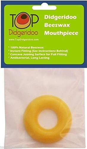 2X TopDidgeridoo Beeswax Mouthpiece for Didgeridoo * 100% pure beeswax. Instant & Easy Fitting. Required for Hygiene, Playability and Comfort. Upper side is perfectly round for 100% comfortable playing. Bottom side has a concave joining surface for a...