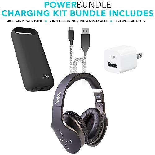 iHip - Auriculares inalámbricos Bluetooth con micrófono Integrado y Modo de Cable para PC, teléfonos móviles y TV