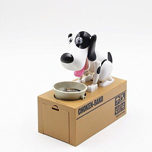 ANKKO Hund hübsch stehlen Geld Money Box Sparschwein Geld Sparbüchse - schwarz weiß