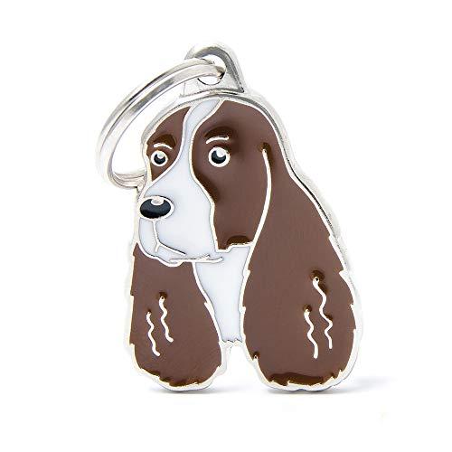 BT Beer Hond ID Tag, 2 STKS Kleine Emaille Metalen huisdier ID Tags Hond Collar Ketting Hanger, Engels Springer Spaniel Koffie