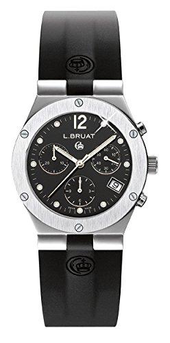 L.BRUAT 406016 - Reloj, Correa de Goma Color Negro
