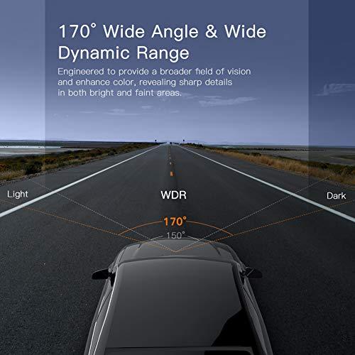 APEMAN Cámara de Coche Dash CAM 1080P FHD DVR Pantalla LCD de 3 Pulgadas Gran Angular de 170 °, G-Sensor, WDR, Monitor de Aparcamiento, Grabación en Bucle, Detección de Movimiento