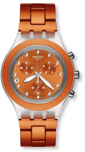 Swatch Reloj de Cuarzo Unisex Unisex Unisex Full-Blooded Naranja SVCK4051AG 43.0 mm