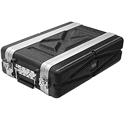 Seismic Audio - SALWR2S - Lightweight 2 Space Compact ABS Rack Case - 2U PA DJ Amp Effects Shallow Rack Case by Seismic Audio