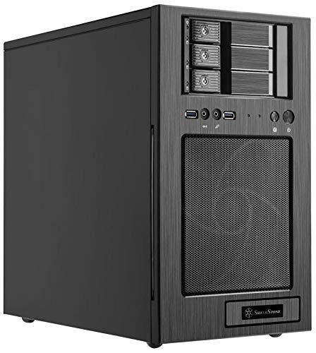 Silverstone CS330 Micro-ATX Tower-Gehäuse mit DREI 3,5-Zoll-SAS-12 / SATA-6-Gbit/s-Hot-Swapping-Einschüben 180mm x 1 AP181 Lüfter enthalten USB 3.0 x 2 SST-CS330B