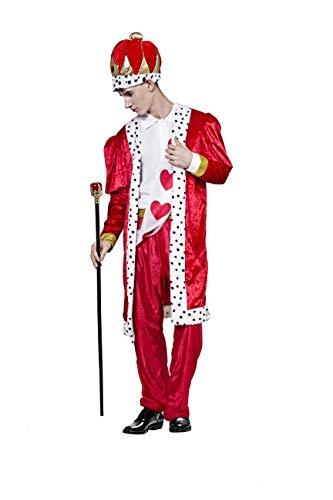 Costumizate! Disfraz de Rey de Corazones Adulto Especial para Fiestas de Disfraces y Carnaval Talla Unica