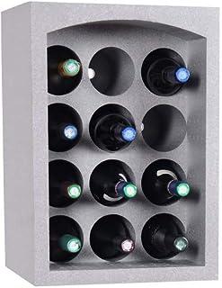 Talous Buon Vino Étagère à vins-Casier range porte bouteilles empilables en polystyrène-35x 29,5x 50cm-pour 12bo...