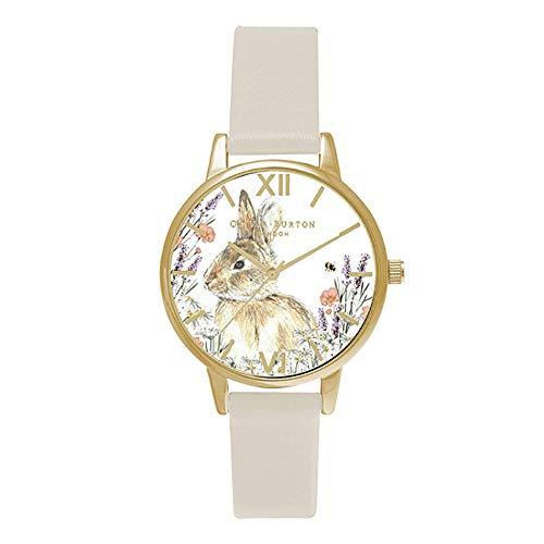 Olivia Burton Damen Analog Quarz Uhr mit Leder Armband OB16WL65