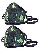 Stoffmaske 2er Set für Nase und Mund - waschbar, Made in EU, Camouflage Design, Grün
