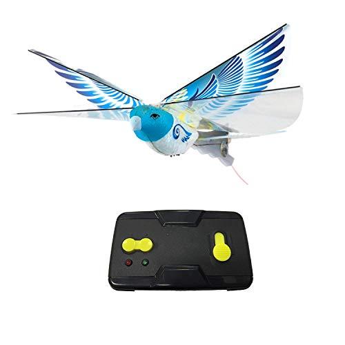 Tiamu Simulation D'oiseau Télécommandée Vol à Battement D'iles Induction Bird Eag Le électrique TéLécommande Bionic Bird Bleu