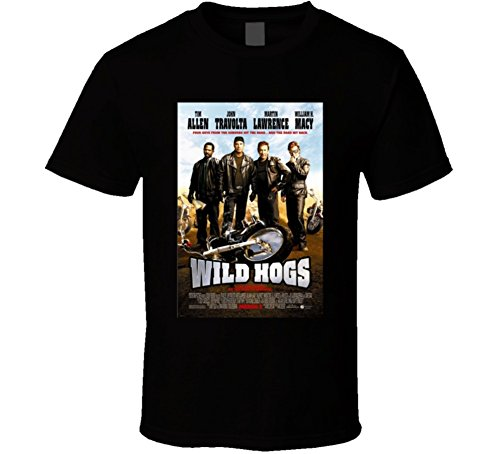 Wild Hogs Cool 21st Century Comedy Classic Movie Poster Fan T Shirt L Black