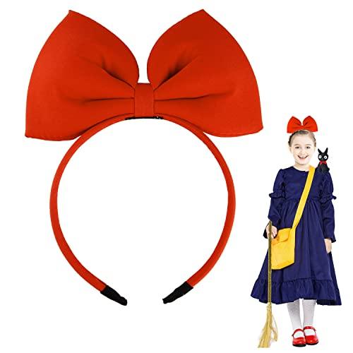 Schleife Stirnbänder Kopfschmuck für Frauen und Mädchen, perfektes Haar-Zubehör für Kikis Lieferservice Cosplay (rot)
