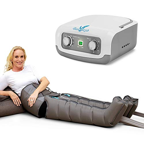 Vein Angel 4 Equipo de Presoterapia Profesional con botas para las piernas y cinta abdominal, 4 cámaras de aire, presión y tiempo fácilmente configurables