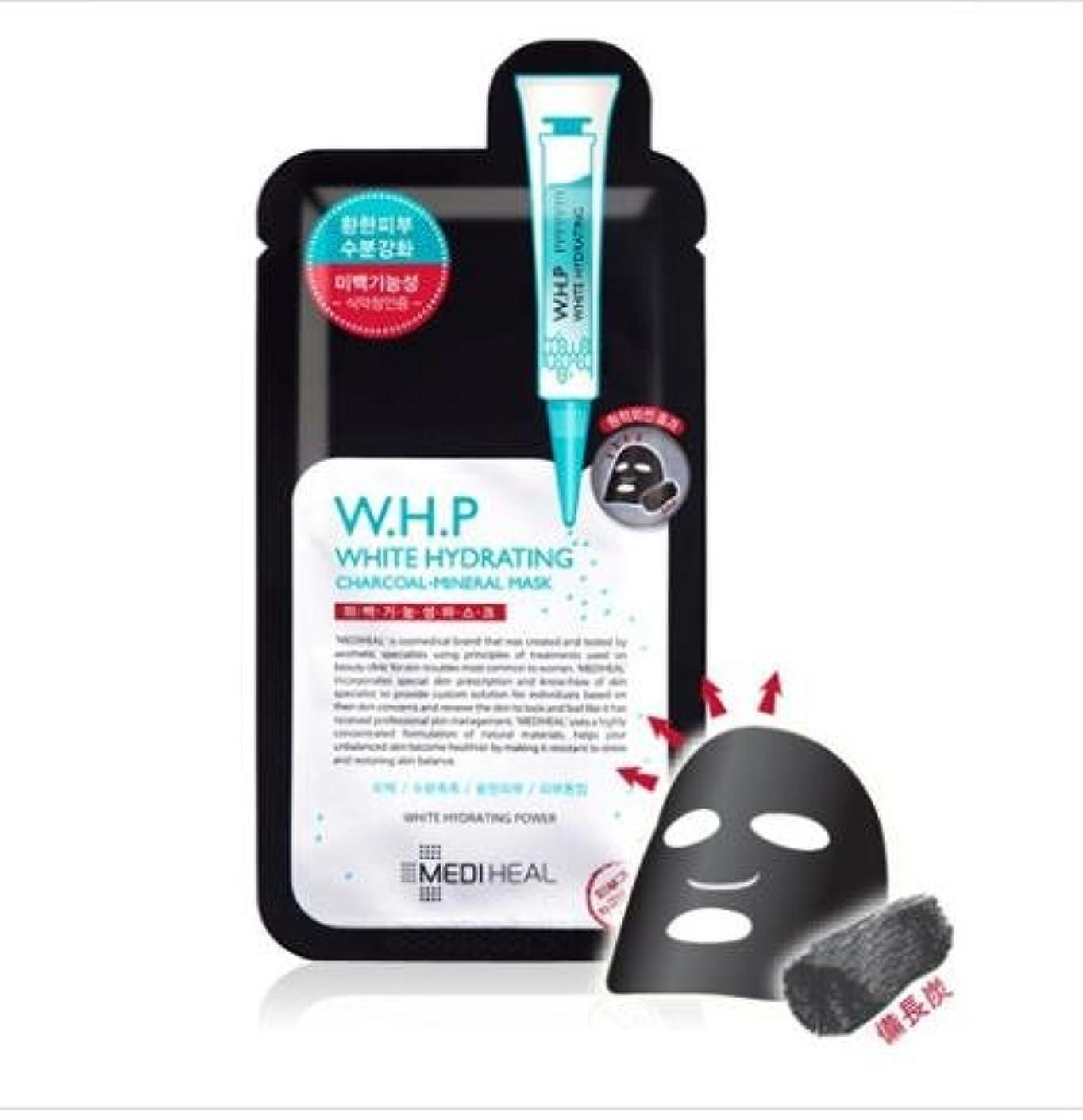 稼ぐビートタフ[メディヒール] Mediheal [W.H.P 美 白水分 ミネラル 炭 マスクパック (10枚)] (W.H.P White Hydrating Charcoal Mineral Mask (10EA)) [並行輸入品]