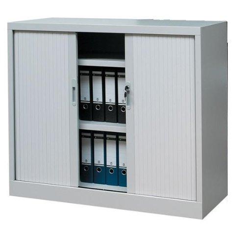 Querrollladenschrank Sideboard 120cm breit Stahl Büro Aktenschrank Rollladenschrank 555140 (HxBxT) 1350 x 1200 x 460 mm kompl. montiert und verschweißt