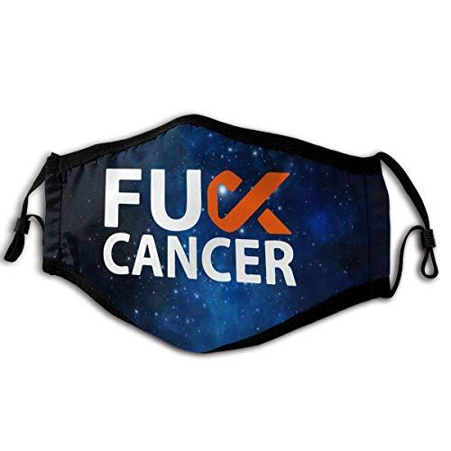 Lustiger Fick Leukämie Krebs Orange Sicherheitsschild Maske schutzmaske