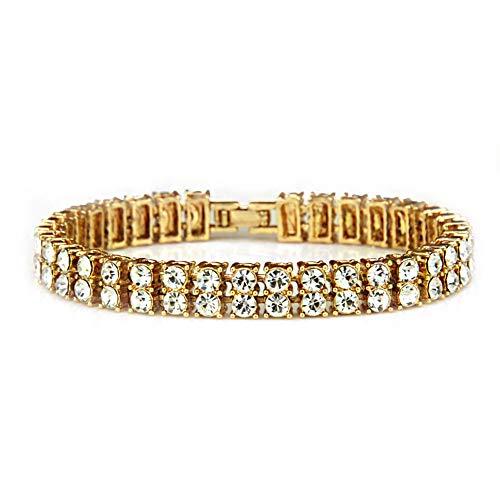 Pulsera de los hombres pulsera pulsera circón (gold)