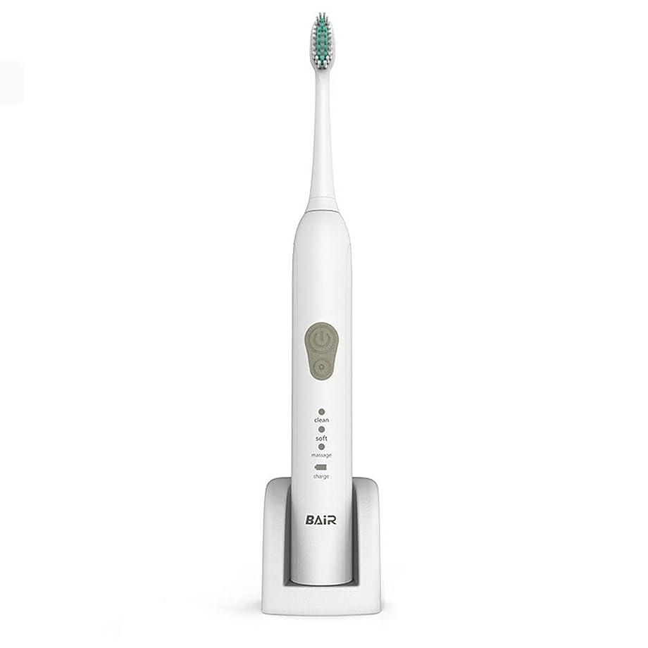 マスタード無心位置する電動歯ブラシ大人の家庭用充電式歯ブラシソニック自動スマート防水歯ブラシ