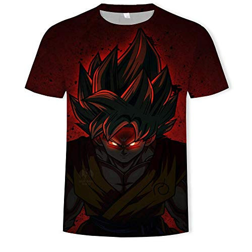 RKWEI T-shirt à manches courtes pour homme Motif dragon 3D XXXXXL multicolore