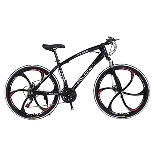 Shamdon Home Collection Mountain Bike Youth and Adult Geared Bicycle,New Python Shaped,26 Inch,One Wheel Double Disc Brake Gift Car Export Car,SSS-Level Shock Absorption,7-21 Speeds Options,Black