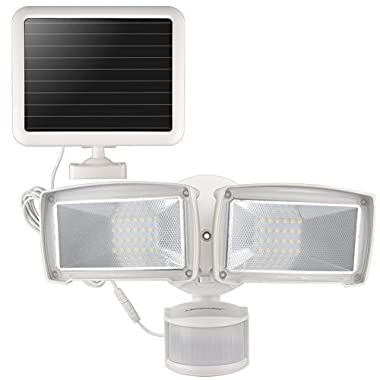 LEPOWER Solar LED Security Light, 950LM Outdoor Motion Sensor Light, 5500K, IP65 Waterproof, Adjustable Head Flood Light with 2 Modes Automatic and Permanent on, for Entryways, Patio, Yard, Garage