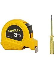 STANLEY STHT36125-812 3 Meter Plastic Short Measuring Tape (Yellow)