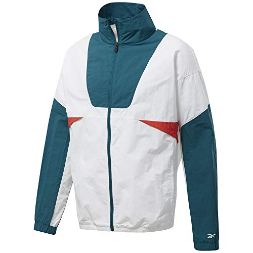 Reebok Meet You There Woven Trainingsjacke Herren weiß/Petrol, S