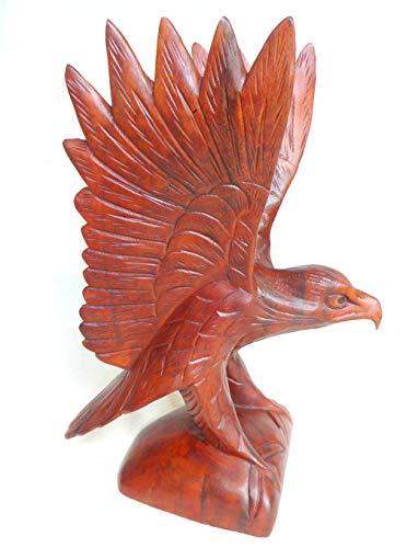 Adler Holzskulptur Holzfigur geschnitzt Soar Holz Dekoration 30cm Höhe