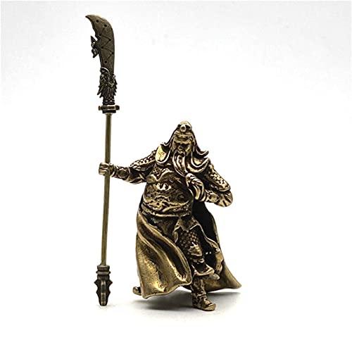 JYKFJ Cobre Chino Feng Shui Guan Gong Estatua Dios de la Gue