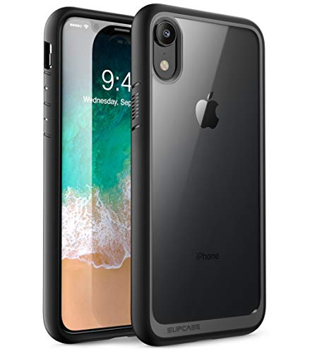 SUPCASE iPhone XR Hülle Hybrid Handyhülle Premium Case Transparent Schutzhülle Backcover [Unicorn Beetle Style] für Apple iPhone XR 6.1 Zoll 2018 (Schwarz)