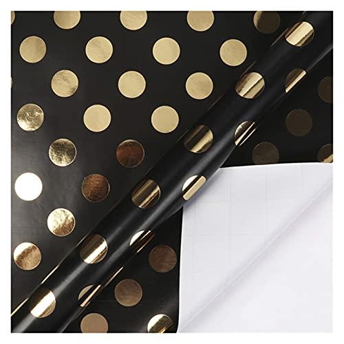 HSLINU 76x200cm/rollo Negro Papel de Regalo 7 Patrones Diferentes Papel de Embalaje Artware Kraft para el Dia de San Valentin Boda Cumpleaños Baby Shower Envoltura de Regalos de graduación
