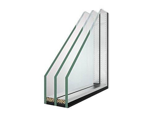 Isolierglas - Glaspaket - Klarglas - 3-Fach Verglasung - 36mm - Wärmeschutzglas - Fensterscheibe - 1,2 m² - nach Ihrem Wunschmaß