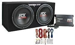 powerful MTX TNP212D212 1200W Dual Road Car Subwoofer Audio System + Box + Amplifier + Amplifier Set