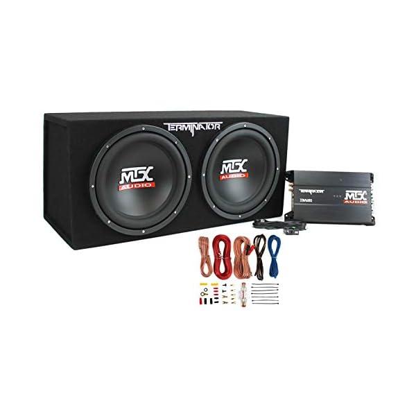 MTX TNP212D2 12″ 1200W Dual Loaded Car Subwoofer Audio Sub+Box+Amplifier+Amp Kit