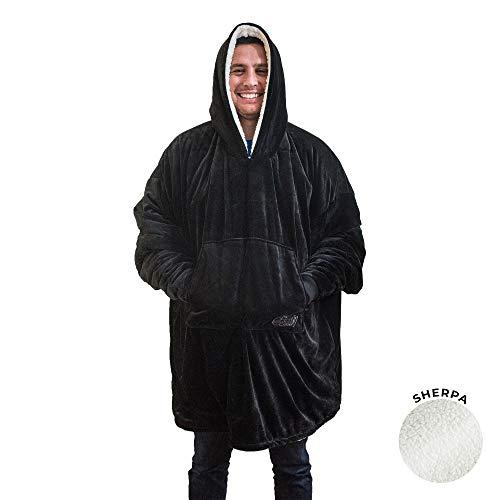THE COMFY - Die Decke, das auch EIN Sweatshirt ist. Weiches und gemütliches Kuscheldecken-Sweatshirt, Einheitsgrösse, (schwarz)
