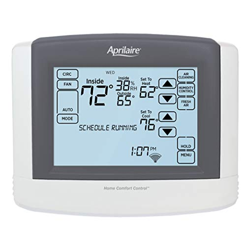 Aprilaire 8910W Touch Screen Wi Fi IAQ Thermostat Works with Alexa